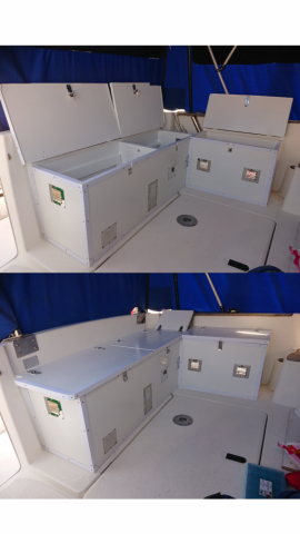 Création de coffre de rangement sur mesure sur bateau Toulon